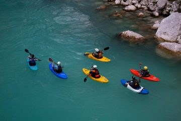Soca river Slovenia kayaking